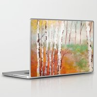 birch Laptop & iPad Skins featuring Birch  by Indraart