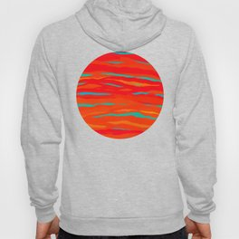 Ripped Turquoise Sunset Sky Hoody