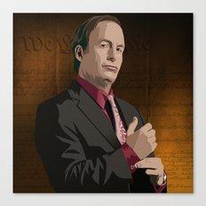 Breaking Bad Illustrated - Saul Goodman Canvas Print