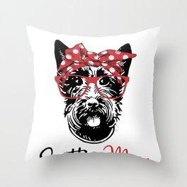 Scottie Dog  - Scottish Terrier  Throw Pillow