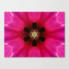 Pink Flower Abstract Canvas Print