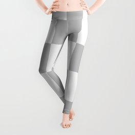 Gray & White Checkerboard Leggings