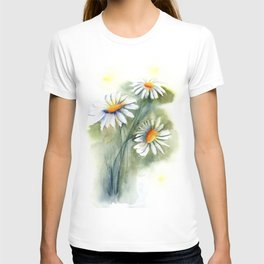 Watercolor daisies T-shirt