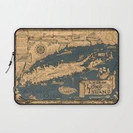Map of Long Island Laptop Sleeve