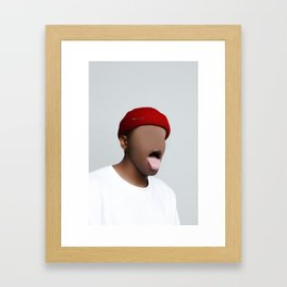 What That Mouth Do Framed Art Print