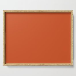 Color orange Serving Tray