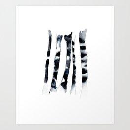 Birch Dusk Art Print