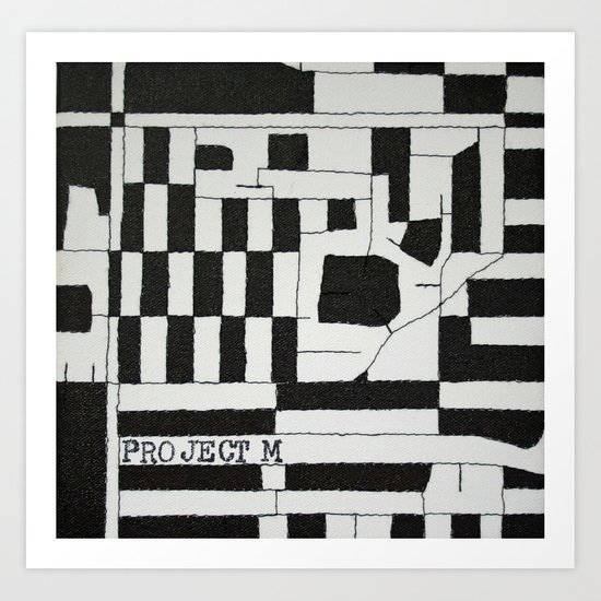 Black & White Map Art Print