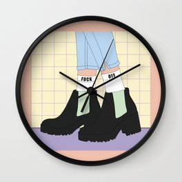 Outside - Illustration Wall Clock