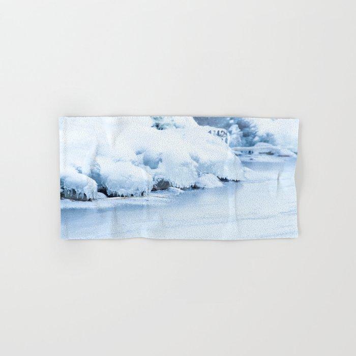 Winter scene #decor #buyart #society6 Hand & Bath Towel