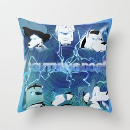 Lightning Dogs: Farfetched :: by Tony Baldin Throw Pillow