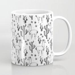 Llama Llamarama + Cactus Pattern Coffee Mug