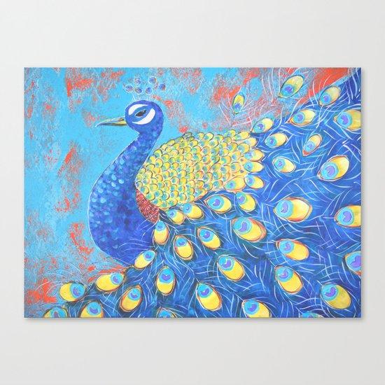 Peacock: Grace Under Fire Canvas Print