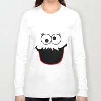 elmo Long Sleeve T-shirts featuring Gimme Those Cookies Girl! by Alli Vanes
