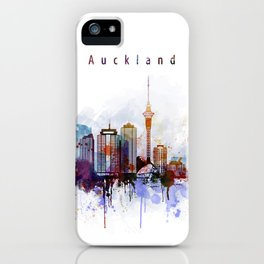 Auckland New Zealand Cityscape iPhone Case