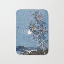 """""""Elves"""" Fairy Tale Art by Edmund Dulac Bath Mat"""
