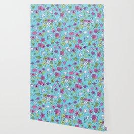 Flowers, Clovers & Diamonds Wallpaper