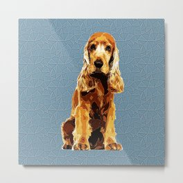 Cocker Spaniel Polygonal Art Metal Print