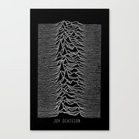 joy division Canvas Prints featuring Joy Division by Abrian Sabo