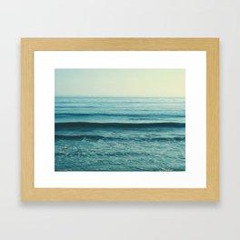beach waves. Somewhere Framed Art Print