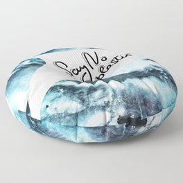 Say no to plastic. dolphin, sea, ocean Floor Pillow