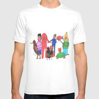 Furgly MEDIUM White Mens Fitted Tee