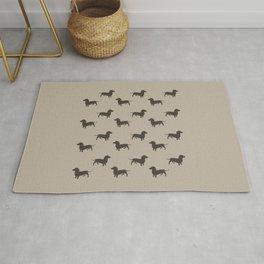 Dachshund Pattern - Tan Rug