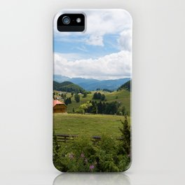 A rural green landscape of Romania iPhone Case