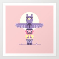 T is for Totem Pole Art Print