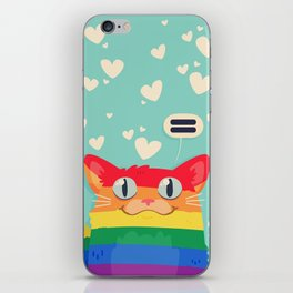 LGBT Cat iPhone Skin