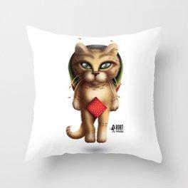 Rastaman Cat Throw Pillow
