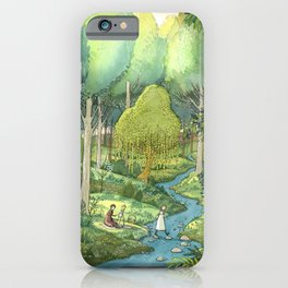 Painting By The Stream iPhone Case