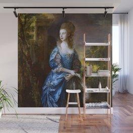 "Thomas Gainsborough ""The Hon. Frances Duncombe"" Wall Mural"