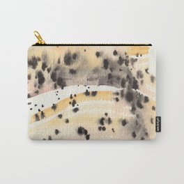 watercolor Montana moss agate (specimen A) Carry-All Pouch