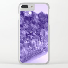 Sparkling Raw Amethyst Clear iPhone Case