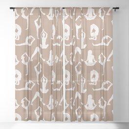Yoga Pattern Sheer Curtain