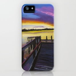 Shelley Bridge Sunset iPhone Case