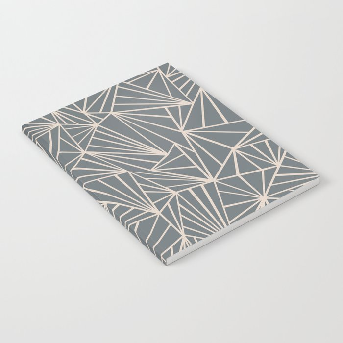 Ab Fan Grey And Nude Notebook