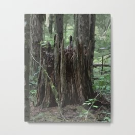 Stump In The Forest Metal Print