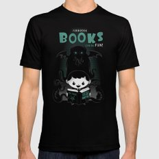 Forbidden books can be fun! LARGE Mens Fitted Tee Black