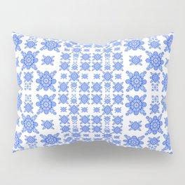 Classic Blue and White Miniature Mandala Print Pillow Sham