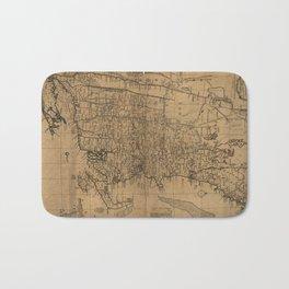 Vintage Map of The New England Coast (1771) Bath Mat