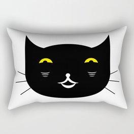 Black cat on white background #society6 #decor #buyart #artprint Rectangular Pillow