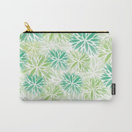 Pom Floral Green Carry-All Pouch