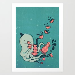 Tea & Tentacles Art Print