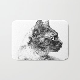 Profile of Stella the Grey (Cat) Bath Mat