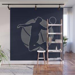 Basketball Player II (monochrome) Wall Mural