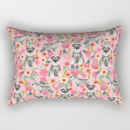 Schnauzer floral dog breed must have gifts for schnauzers Rectangular Pillow
