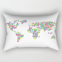 Tetris world (white one) Rectangular Pillow