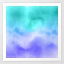 Blue Abstract Sky Art Print